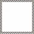 Furry Friends - Kitty - Black Striped Square Frame