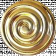 Button Mix Set #04 - Golden Swirl Button # 09