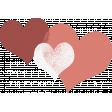Rustic Charm Feb 2015 Blog Train Mini Kit - Colorful Heart Stamp