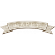 Rustic Charm Feb 2015 Blog Train Mini Kit - Wood Banner Wordart - Happy