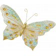 Shine - Teal and Gold Butterfly