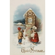 Vintage New Years Cards - Clock