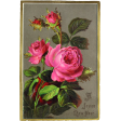 Vintage New Years Cards - Roses