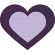 The Good Life: August Bits & Pieces - Light Purple Heart with Dark Purple Rim