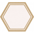 The Good Life: August Bits & Pieces - Pink Hexagon With Gold Rim Label