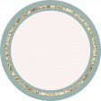 The Good Life: August Bits & Pieces - Blue Circle With Gold Ring Label