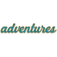 The Good Life: August - Iridescent Green Adventures Enamel Pin Word Art