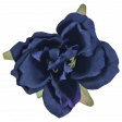 Cozy Kitchen Navy Blue Silk Flower