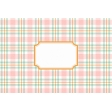 Cozy Kitchen Fabric Journal Cards - Pastel Plaid Label - 6x4