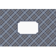 Cozy Kitchen Fabric Journal Cards - Navy Blue & Tan Plaid - 6x4