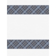 Cozy Kitchen Fabric Journal Cards - Navy Blue with Tan Plaid - 3x4
