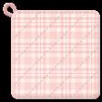 Cozy Kitchen Pink Plaid Potholder