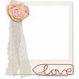 Already There - Flower & Lace Cursive Love Clip Frame (Shadowed)