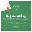 This Moment Is A Celebration- Journaling Card (square)