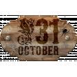 Wooden Halloween Sign