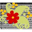 Cartoon floral cluster - stamp