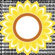 Sunflower sticker - no white border
