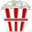 Enamel Pin - MOVIE - POPCORN
