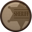 Cowboy Flair - Sheriff Badge