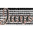 A year full - Enamel - June