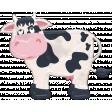 Barnyard Fun - Stamped Cow
