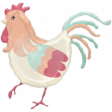 Barnyard Fun - Stamped rooster