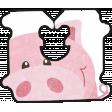 Barnyard Fun - bread tag- piggy