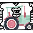 Barnyard Fun - Bread Tag- Tractor