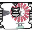 Barnyard Fun - Bread Tag- Windmill
