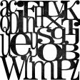 Alphabet paper overlay - Black