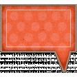 Chipboard Speech bubbles - Orange