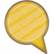 Chipboard Speech bubbles - Yellow