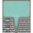 Chipboard Speech bubbles - Turquoise