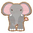 Noah's Ark Wooden Elephant