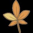 Falling Leaves - Chipboard - leaf #1