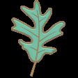 Falling Leaves - Chipboard - leaf #2