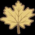 Falling Leaves - Chipboard - leaf #3
