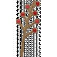 Falling Leaves - Chipboard - berries