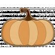 Falling Leaves - Chipboard - pumpkin