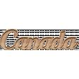 Canada Wood Word Art