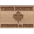 True North Wood Word Art