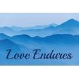 Love Endures 6 x 4 Word Art Filler Card