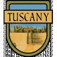 Tuscany Word Art Crest