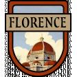 Florence Word Art Crest