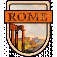Rome Word Art Crest