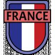 France Word Art Crest