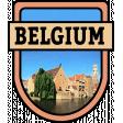 Belgium Word Art Crest