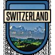 Switzerland Word Art Crest