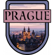 Prague Word Art Crest