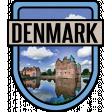 Denmark Word Art Crest